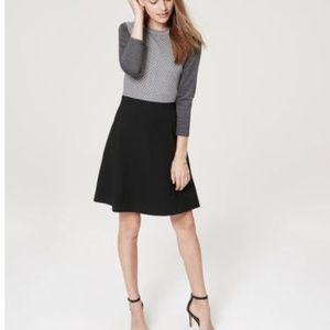 LOFT cotton colorblock dress
